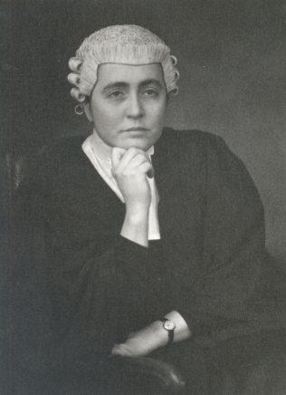 Enid Lockett as a barrister