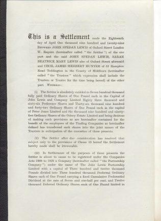 First trust Settlement 1929