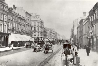 The first known image of John Lewis on Oxford Street, 1885