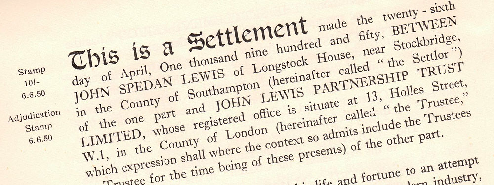 The First Settlement Trust, 1929