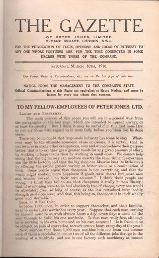 The Peter Jones Gazette