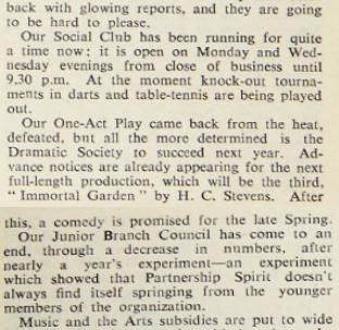 Blinkhorn's Busy Social Scene