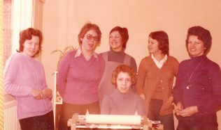 These ladies worked on the sales ledger. On the far right is Anne Lamb(?) who was the supervisor. For the majority of my time at Robert Sayle I lived at Bar Hill and Anne & her husband used to give me a lift in Cambridge each day. | David Pacey