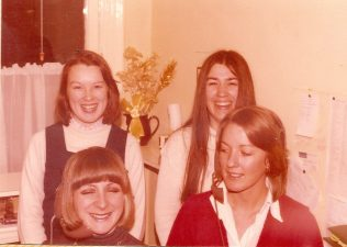 Andrea and Janet at the front with two ladies from the Sales Ledger. | David Pacey