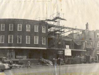 Post-war rebuilding works, 1952
