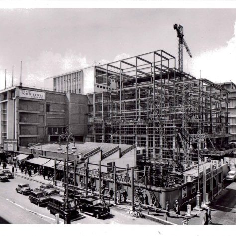 Stage one of the John Lewis rebuild, 1958