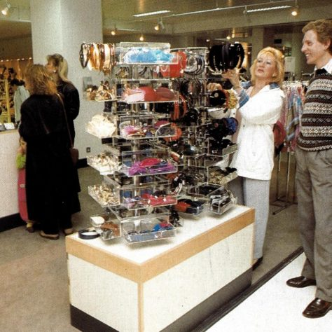 Customer's scrutinise products of all sizes!