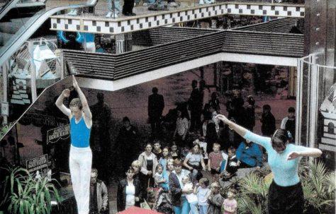 John Lewis Aberdeen and a trampoline!
