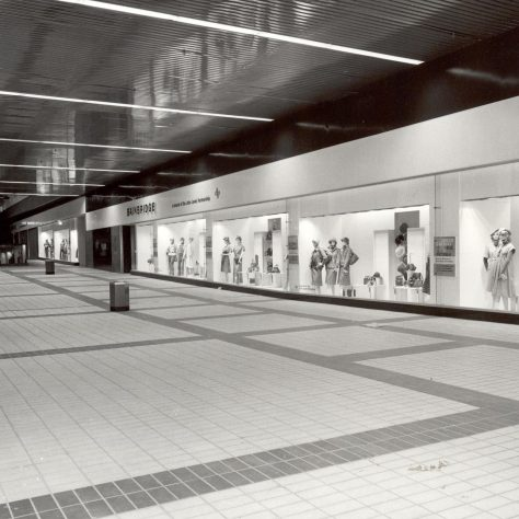 Bainbridges Eldon Square, just before opening, 1976