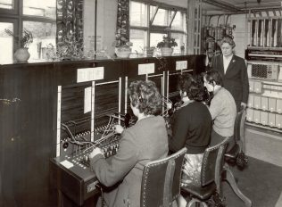 The new telephone switchboard opened at Bainbridges in 1957