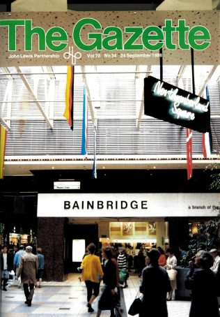 The exterior of Bainbridges by 1988, the department store's 150th year