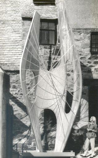 Barbara Hepworth with the Winged Figure