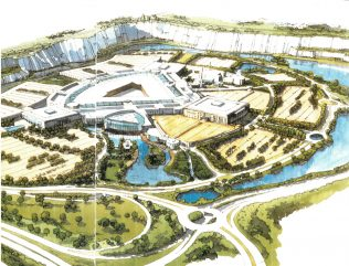 Artists impression of the Bluewater ampitheatre