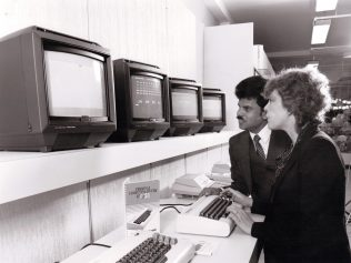 The Bonds home computer department in 1983, the pride of the newly refurbished department store