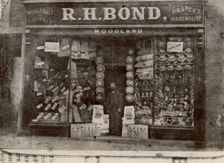A photograph of the shop from the 1880's. The man at the entrance is likely to be Mr R.H Bond