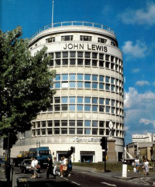 The frontage of John Lewis Bristol in 1989