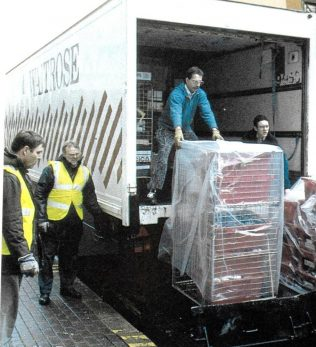 The lorries arrive to transfer goods from John Lewis Bristol to the soon to be opened John Lewis Cribbs Causeway