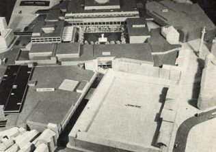 A model of the Eldon Square shopping centre