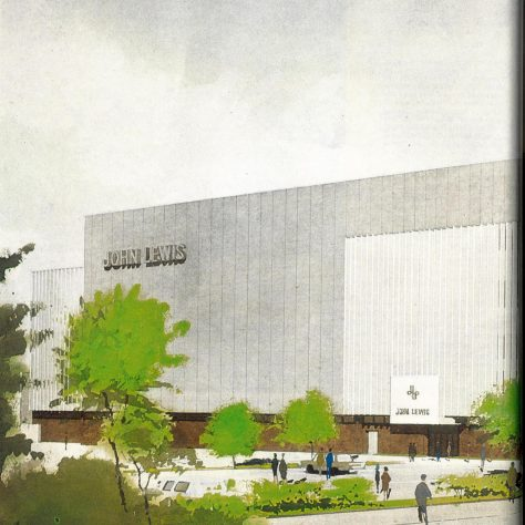 An artist's impression of John Lewis Brent Cross, within the Brent Cross Shopping Centre