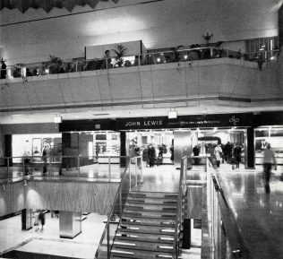 The front entrance to John Lewis Brent Cross, on year after opening