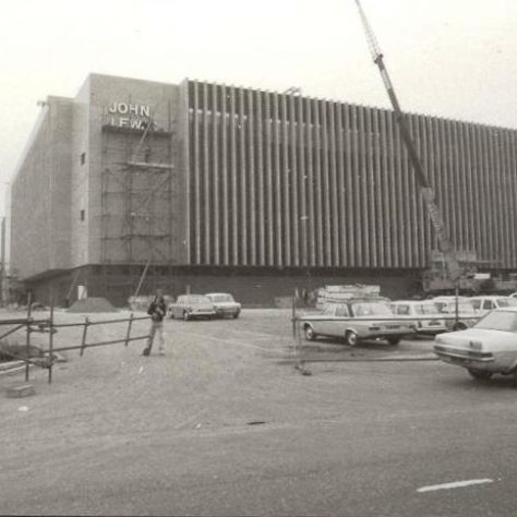 The name being erected upon the side of John Lewis  Brent Cross, soon before opening