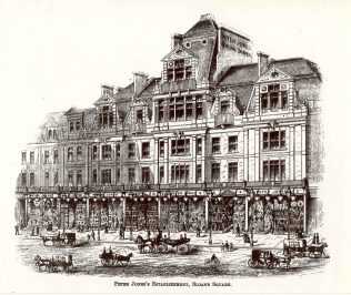 Peter Jones, Kings Road frontage, 1890