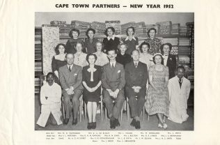 A picture of the Cape Town Partners, taken in 1952, only two years before the South Africa branches closed