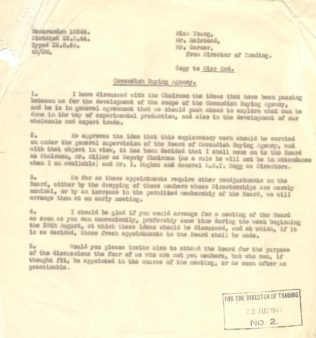 A Cavendish Textiles buying agency memo from 1944
