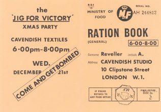 A Cavenshish Textiles wartime party invitation, 1939-1945