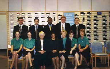 Left to right rear, Nigel Anderson, Tyler Wendelken, Michael, Richard, ?. Front row, Caroline Spence, Jenny, Janice Thomas, Kirti, Joan Creasey, Christine Anderson, Vera. | From the private collection of Caroline Spence