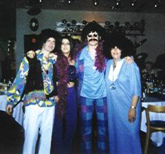 Left to right, Paul, Lisa Bhatt, Nigel Anderson and Janice Thomas. | From the private collection of C Spence