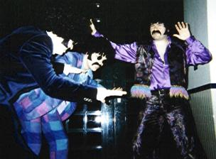 Left to right, Andy Hayes, Nigel Anderson and the Purple People Eater! | From the private collection of C Spence