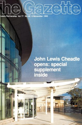 The Gazette details the opening of John Lewis Cheadle
