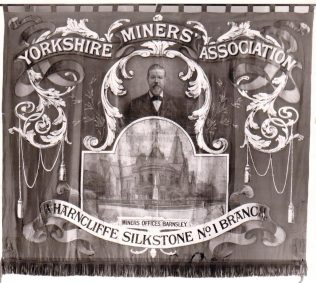 A Cole Brothers banner produced for the Yorkshire Miners Association, 1870