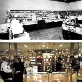 The same department separated by 25 years. What a difference!