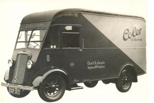 A Cole Brothers delivery van from 1937