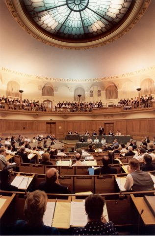 Then Chairman Stuart Hampson addressing the Central Council in 1998