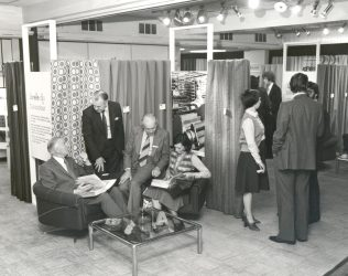 An exhibition at John Lewis on Oxford Street, 1979