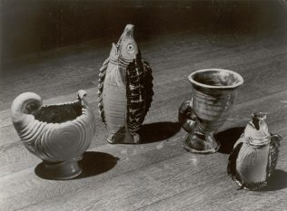 Some examples of more experimental Odney Pottery c1950 | John Lewis Partnership Archives - Ref. 2077/h