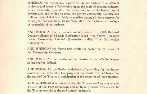 The First Trust Settlement, 1929