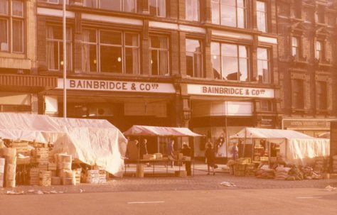 The grand opening of Bainbridges, Eldon Square