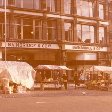 The frontage of the old Bainbridges store, the day for the move to Eldon Square