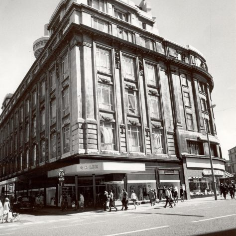 The exterior of GH Lee in 1963. The building in the photo was formerly Bon March Liverpool, before acquisition by the Partnership in 1961