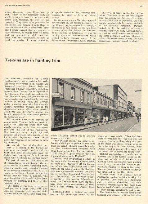 Gazette story about Trewins | JLP Archive Collection