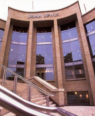 The exterior of John Lewis Glasgow on the day of opening