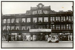 The exterior of Heelas, Christmas 1952-1953