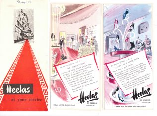 A collection of leaflets for the Heelas Special Services, circa 1950