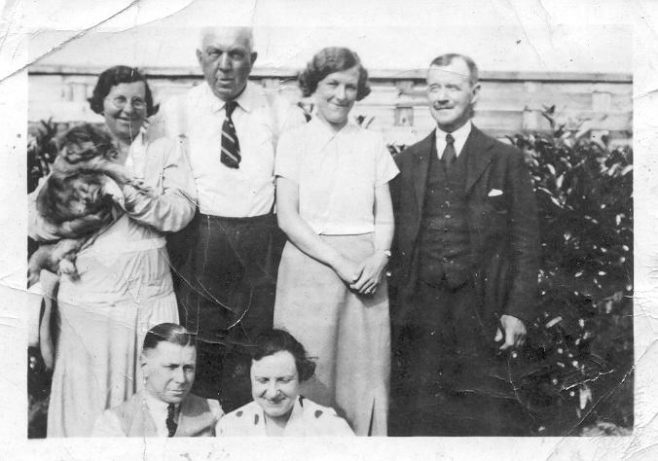 Mr & Mrs Henry Trewin, standing on left, c1924 | JLP Archive Collection