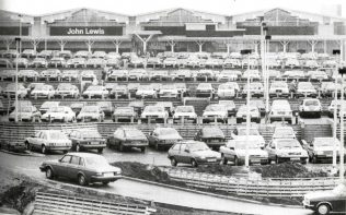The 600 space car-park, full one hour after opening