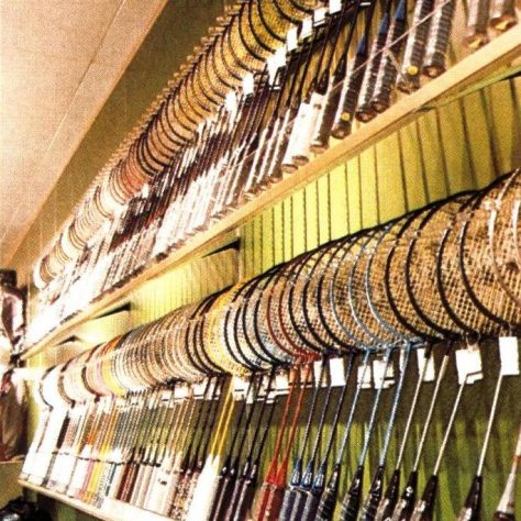 Rackets of all sizes: a massive rackets section
